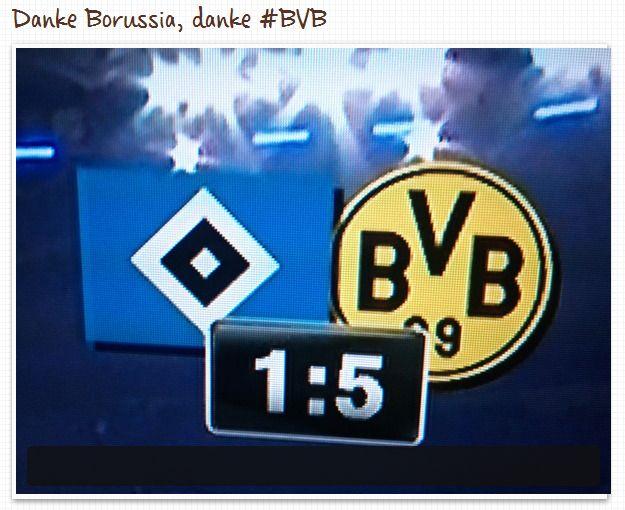 Endstand Hamburger SV Borussia Dortmund1 5 Bundesliga BVB