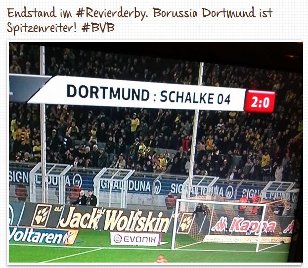 Endstand Revierderby November 2011 Borussia Dortmund FC Schalke 04