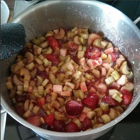 Erdbeer-Rhabarber-Marmelade Rezept Konfitüre