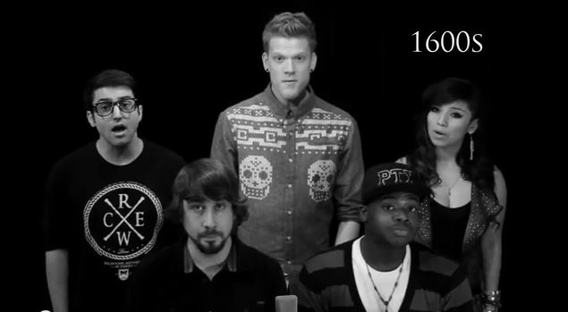 Evolution of Music - Pentatonix - YouTube -Screenshot