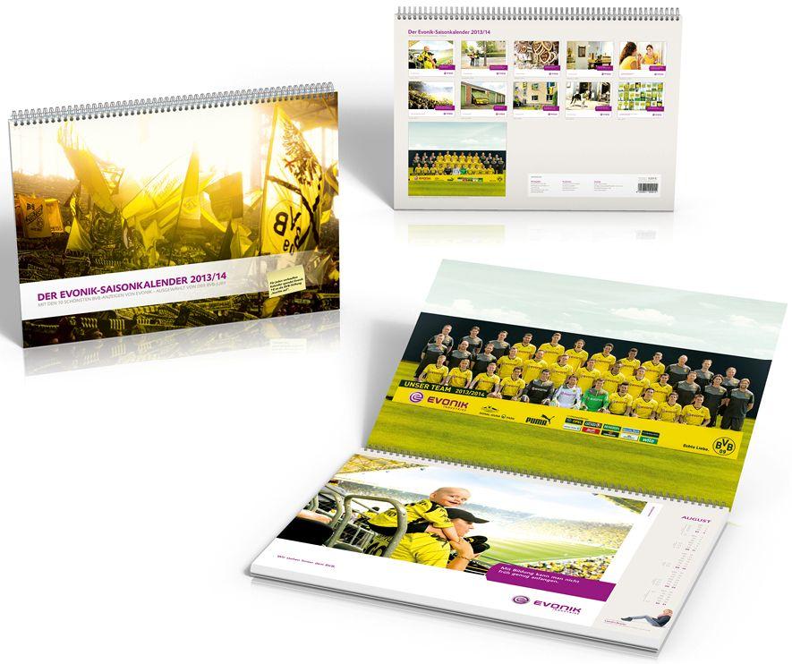 Evonik Saisonkalender 2013 2014 Borussia Dortmund BVB