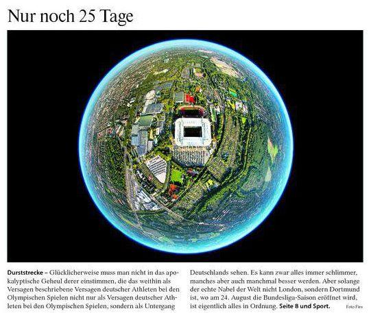 FAZ Titelbild 31.07.2012 BVB Dortmund Westfalenstadion