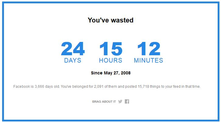 Facebook Time Machine How Much Time Have You Wasted  TIME