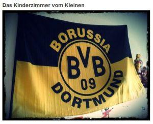 Fahne Flagge Borussia Dortmund Kinderzimmer BVB