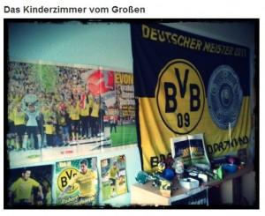 Fahne Flagge Borussia Dortmund Kinderzimmer Poster Hissfahne BVB