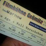 Filmbühne Kino Grömitz Ticket Eintrittskarte Ice Age 4 Voll verschoben
