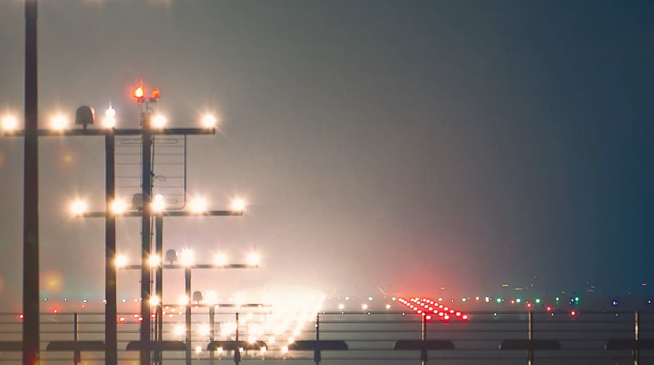 Flughafen Düsseldorf Airport International Timelapse Night Flight Vimeo