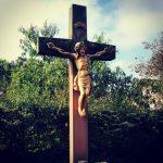 Friedhof Amelunxen Kreuz Jesus Trauer