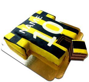 Fußballtrikot-Torte schwarz-gelb deineTorte.de