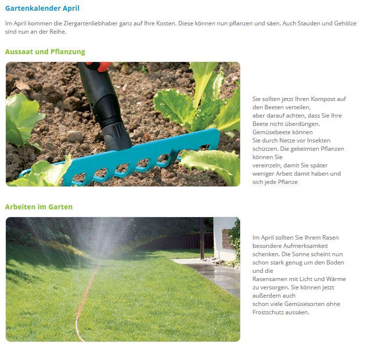 Gartenkalender  Profi-Power-Shop - Online Baumarkt - Gartenkalender