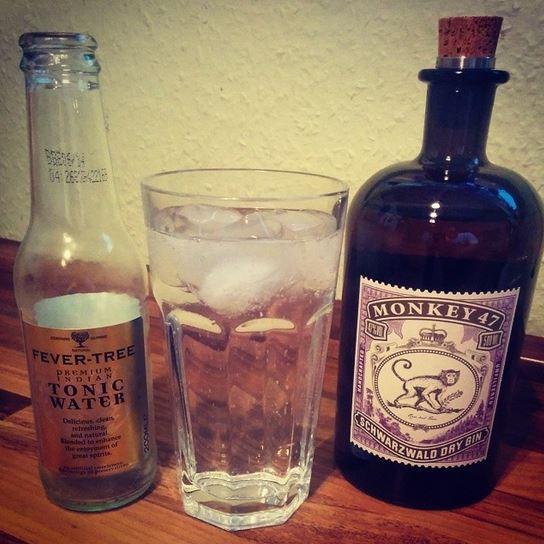 Gin Tonic Monkey 47 Schwarzwald Dry Gin