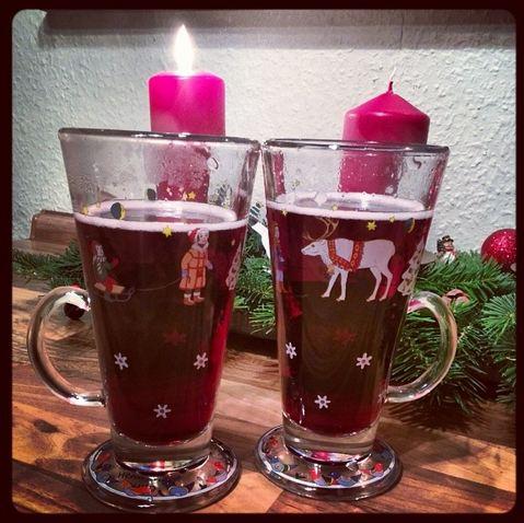 Glühwein Advent Hutschenreuther Glas Adventskranz Kerze