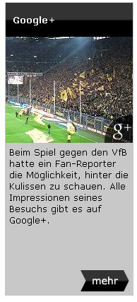 Google+ Fan-Reporter Rückblick BVB Borussia Dortmund Newsletter