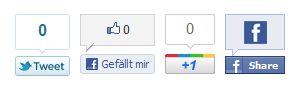 Google+ Twitter Facebook Plugin