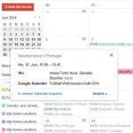 Google Kalender WM Brasilien 2014