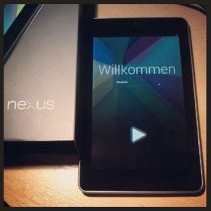 Google Nexus 7 Ersteinrichtung Willkommensbildschirm Tablet Tablet-PC