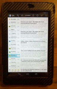 Google Nexus 7 Reader Feedreader Display
