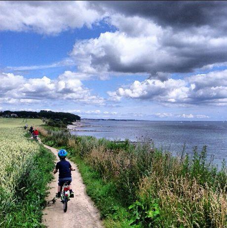 Grömitz Ostsee Sommer See Meer 2012 Fahrrad Fahrradtour Wolken