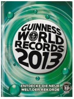 Guinness World Records Buch 2013 Amazon Cover Rezension Buchkritik Kritik Test Produkttest