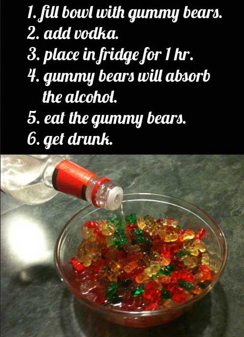 Gummibären Wodka Rezept