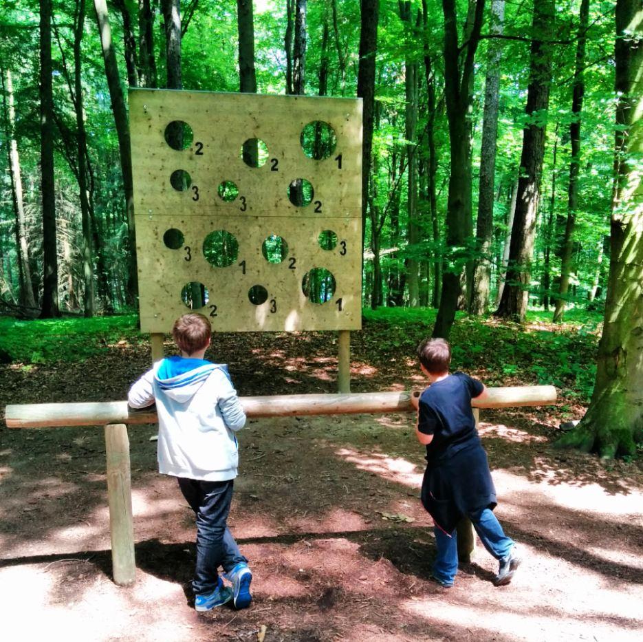 Heuchelberg Erlebnispfad Tannenzapfen Werfen Heuchelberger Wald Heilbronner Land WanderSüden
