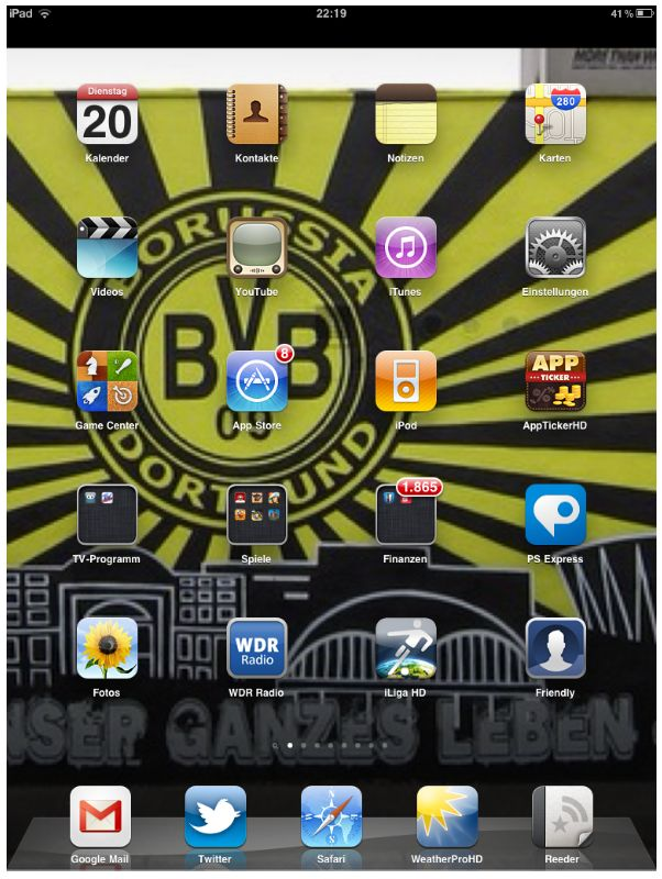 Homescreen iPad
