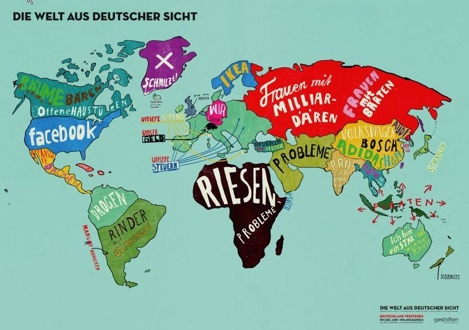 Infografik Die Welt aus deutscher Sicht  Deutschland verstehen Ein Lese-, Lern- und Anschaubuch Ralf Grauel