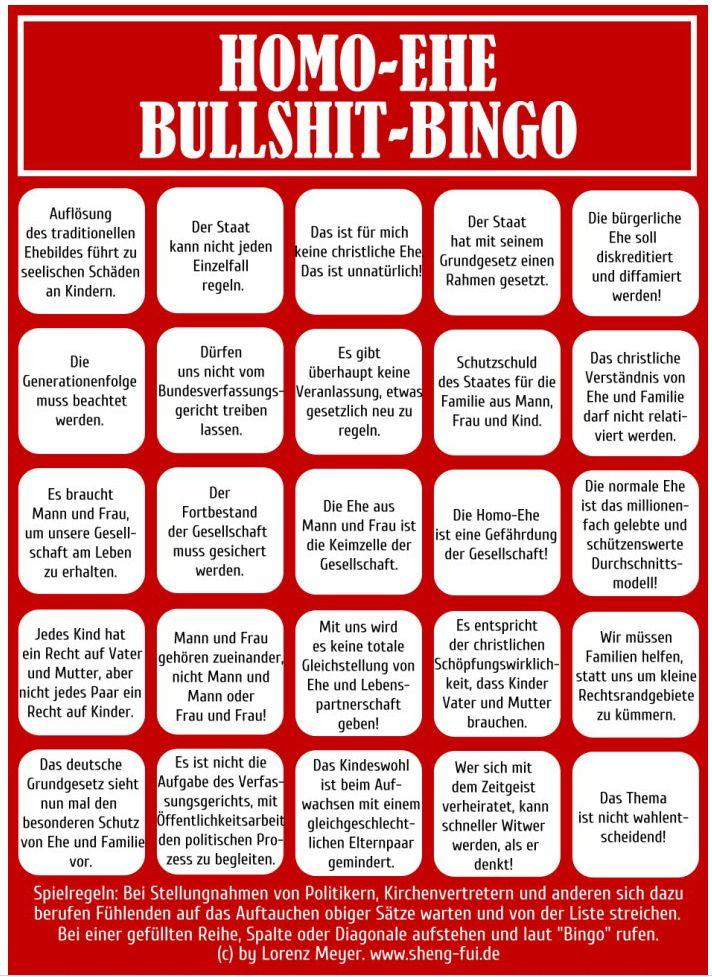 Infografik Sheng-Fui Home-Ehe Bullshit-Bingo