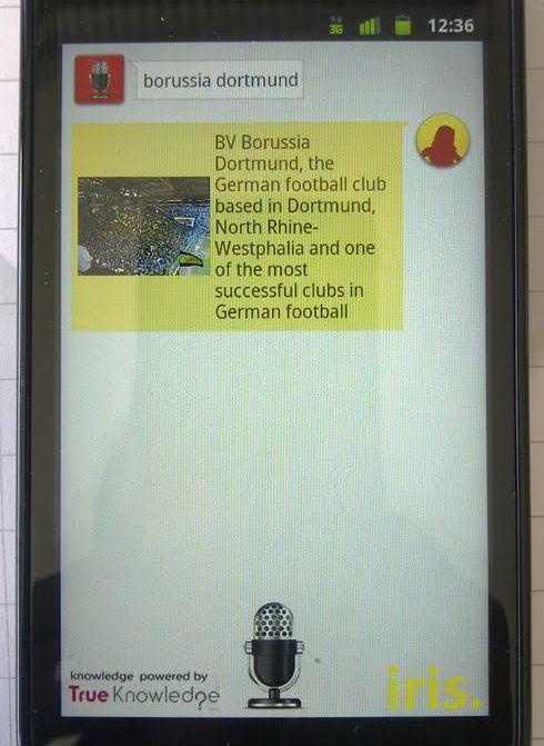 Iris. Android Screenshot Borussia Dortmund