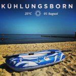 Kühlungsborn Strand Schlauchboot Boot Wasser Ostsee