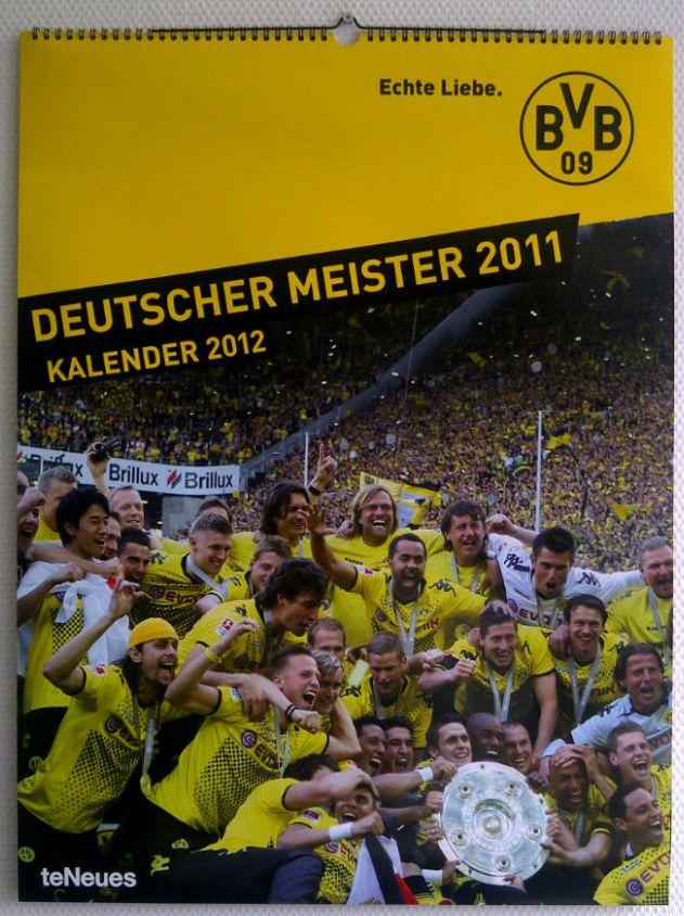 Kalender Borussia Dortmund 2012 Front BVB Meisterkalender