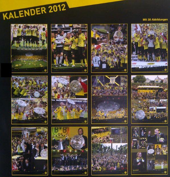 Kalender Borussia Dortmund 2012 Meisterkalender BVB