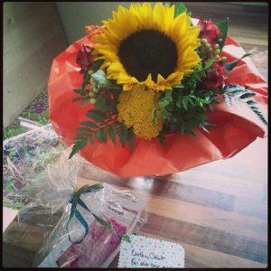 Kindergarten Abschied Sonnenblume Blume Geschenk Gretels Werke Tatü Tasche