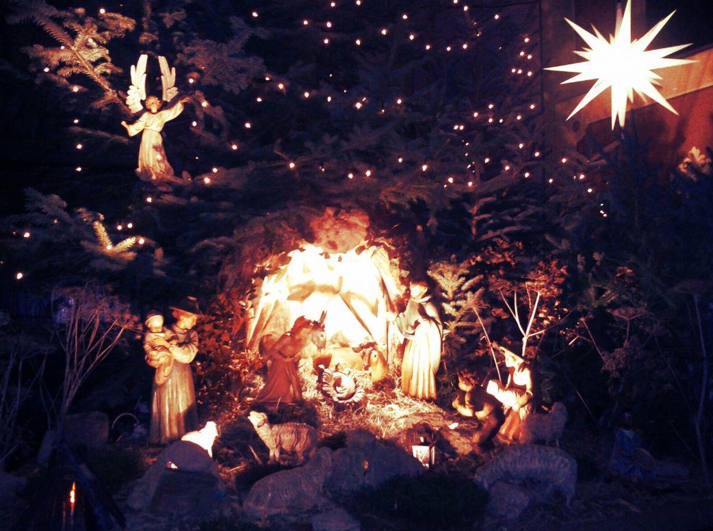 Kirche Krippe Amelunxen St. Peter Paul 2011 Weihnachten