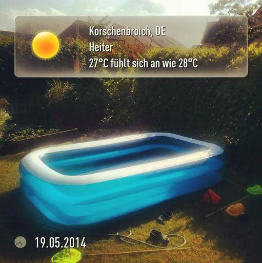 Kleinenbroich Niederrhein Wetter Sonne Pool
