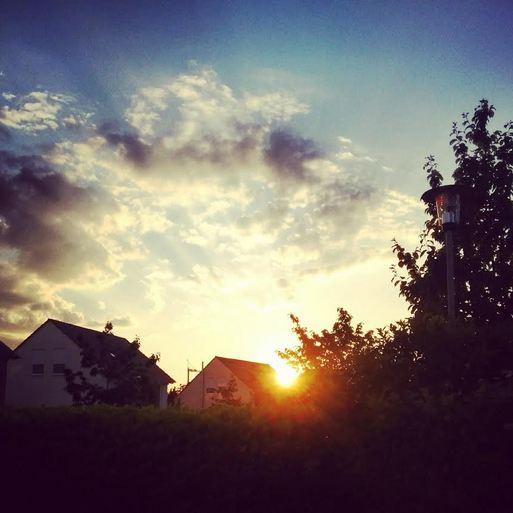 Kleinenbroich Niederrhein Sonnenuntergang