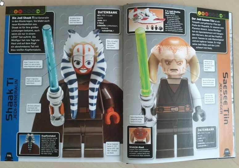 LEGO Star Wars Lexikon der Minifiguren Dorling Kindersley Rezension Minifigur Produkttest Seitenansicht