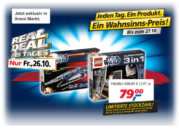 "LEGO Star Wars Super Pack 3 in 1 oder ""The Malevolence"" 9515 – der ""REAL DEAL des Tages"
