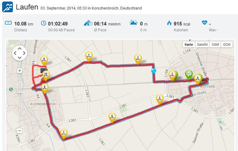 Laufen 03092014 Tag 10 Kilometer
