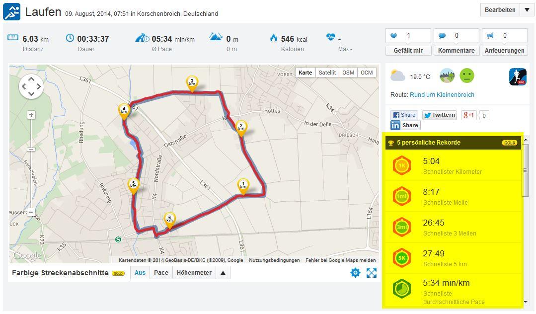 Laufen Running 09082014 Kleinenbroich Feld Nordost