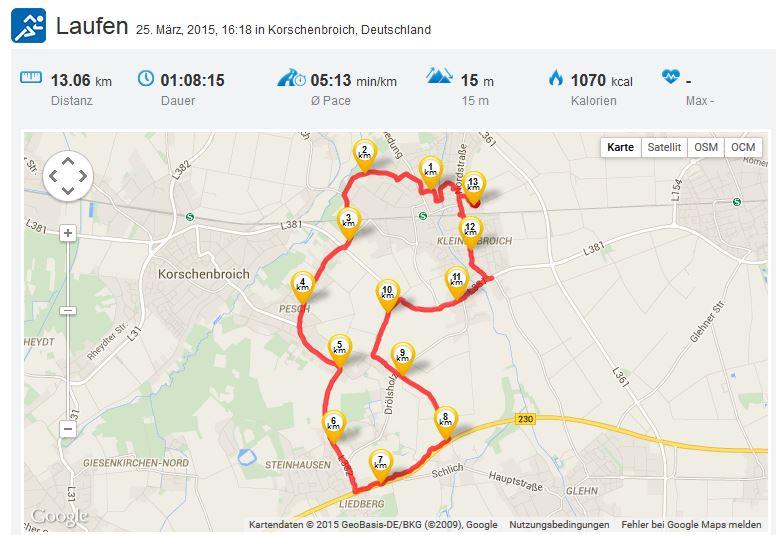 Laufen Running 25032015 Kleinenbroich
