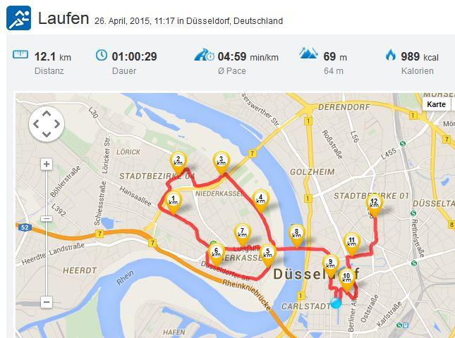 Laufen Running 26042015 Metro Marathon Düsseldorf