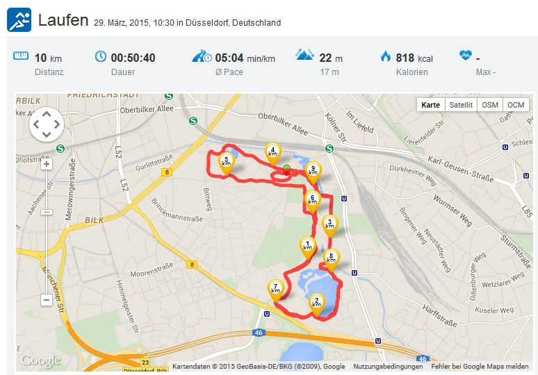 Laufen Running 29032015 Düsseldorf erster Wettkampf Frühlingslauf TG 1881