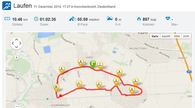 Laufen Running Eickerender Feld Büttgen Driesch Vorst 11122014