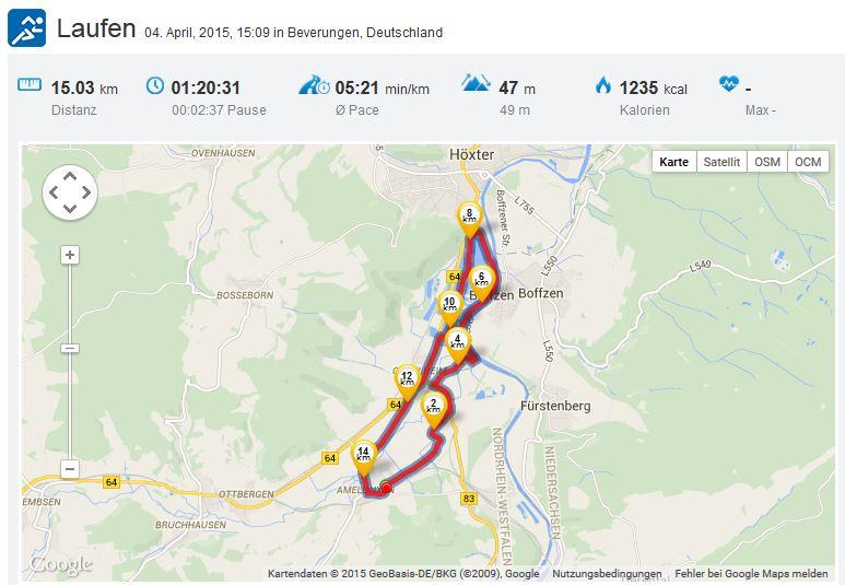 Laufen Running Ostwestfalen Weser 04042015