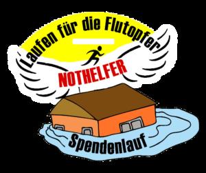Laufen für die Flutopfer Logo