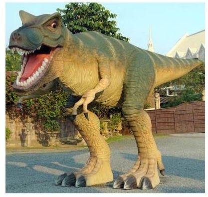 Lebensgroßer T-Rex in Angriffshaltung Gartendeko Amazon amazon.de Shopping