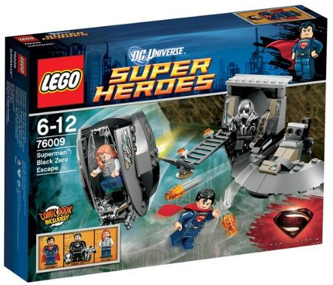 Lego DC Universe Super Heroes 76009  Superman Black Zero auf der Flucht Amazon Cover