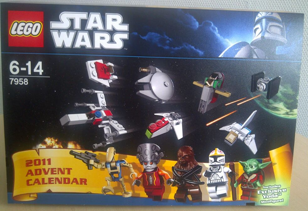 Lego Star Wars Adventskalender 2011 7958 Cover Minifiguren