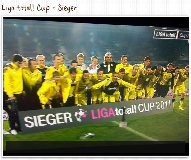 Liga total! Cup Sieger 2011 Borussia Dortmund